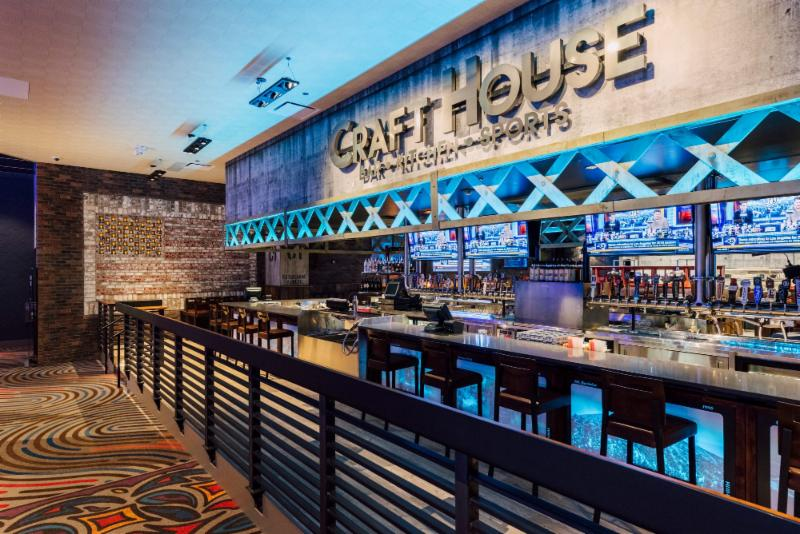 The CraftHouse at the Lucky Eagle Casino in Rochester_ Washington_ debuted in 2016 as part of an expansion designed by Rice Fergus Miller.