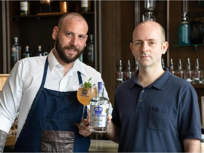 Mixologist and brand ambassador Christos Kalaitzis_ left_ and head distiller Stuart McKinnon of Central City Brewers _ Distillers in Surrey