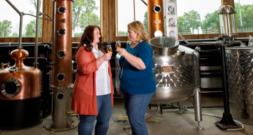JOYCE AND AUTUMN NETHERY OF JEPTHA CREED DISTILLERY
