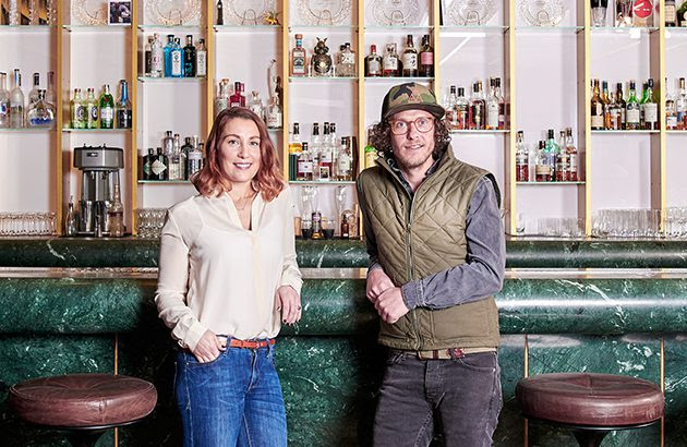 _L-R_ Claire Smith-Warner and Seedlip founder Ben Branson