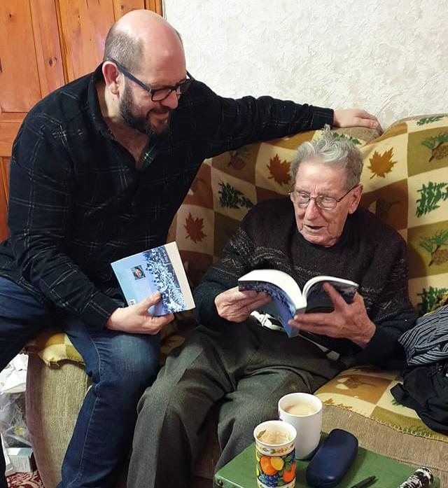 Gary West and Jock Duncan with Book