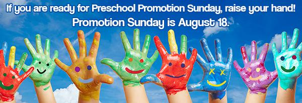 Preschool Promotion Sunday