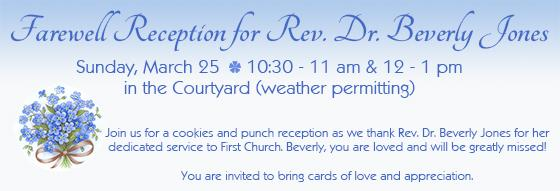 Beverly Jones Reception