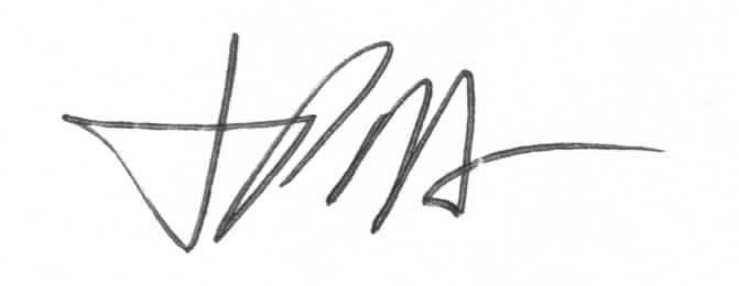 Signature for James Mettham