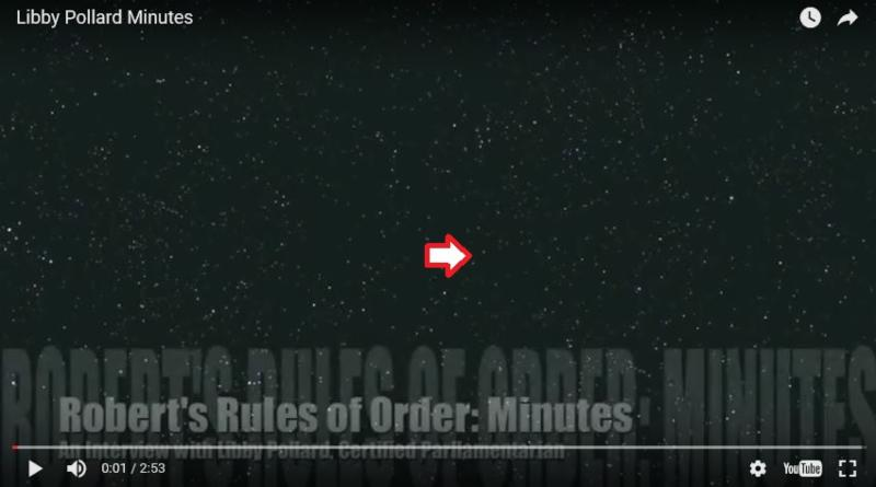 rules of order minutes