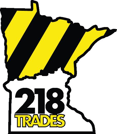 218 Trades Logo Vertical
