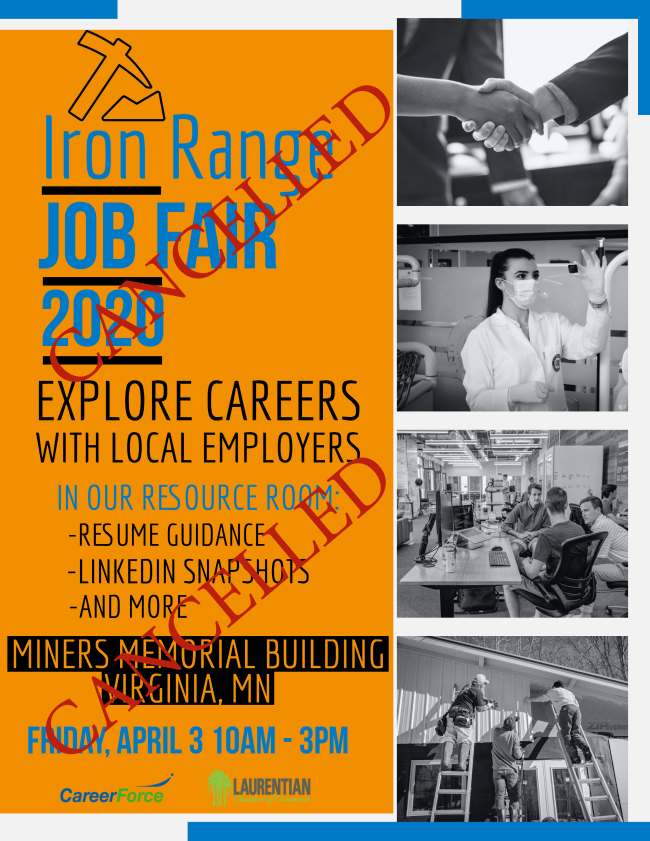 Iron Range Job Fair Cancelled