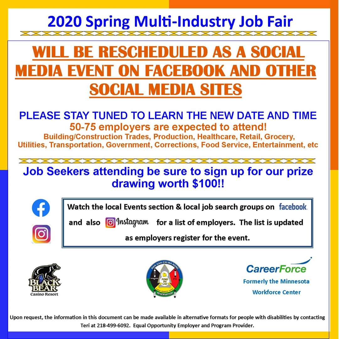 Fond-du-Lac Job Fair Flyer