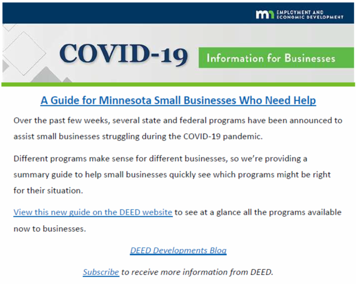 COVID-19 Small Business help