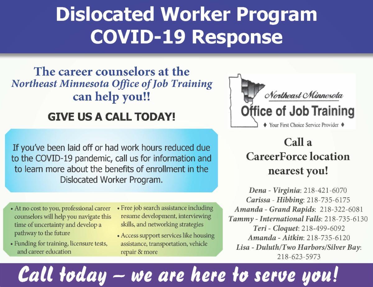Dislocated Worker Program flyer
