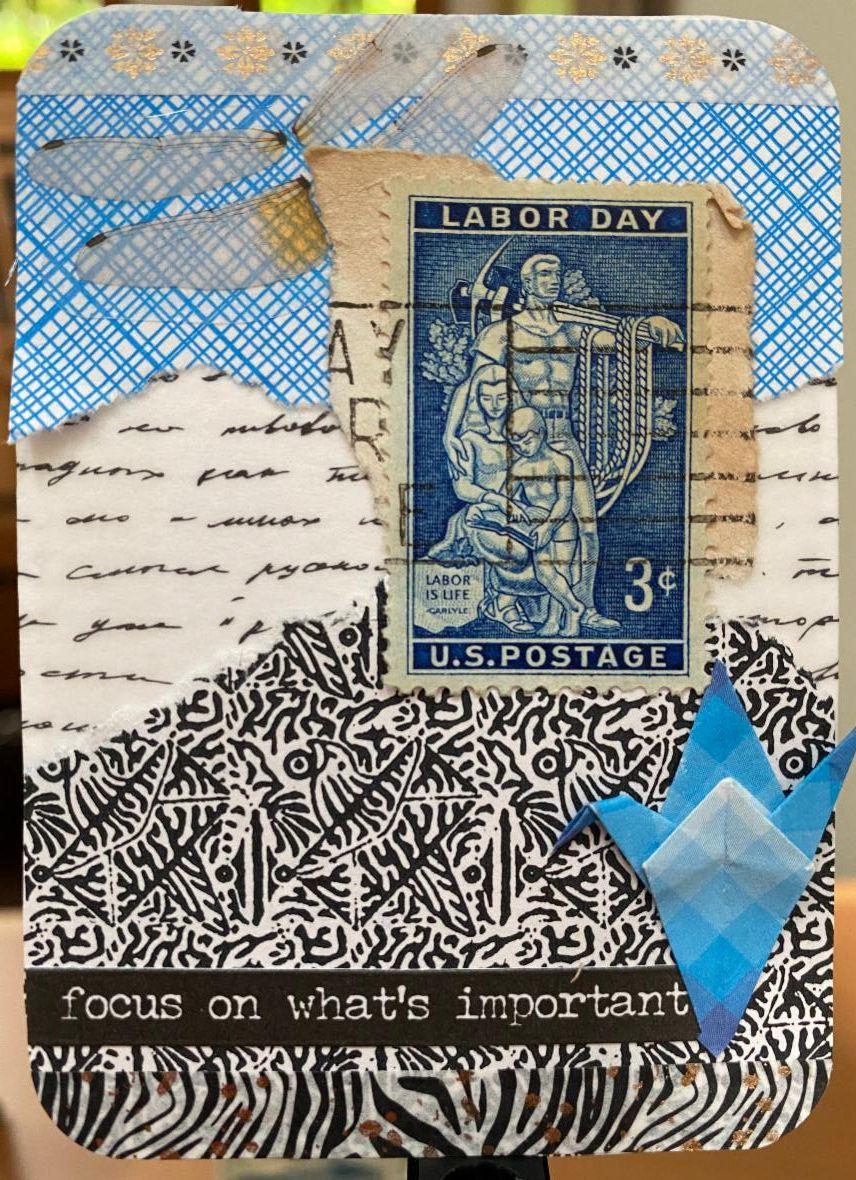 Labor Day Stamp ATC