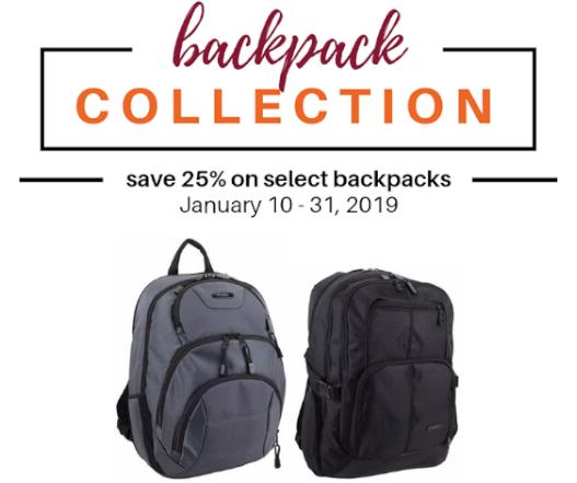 Save 25% on Select Backpacks