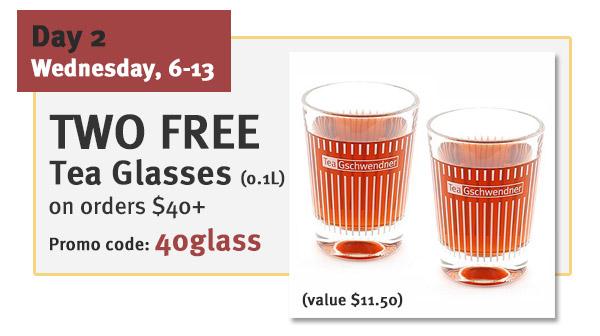 2 FREE TG Tea Glasses