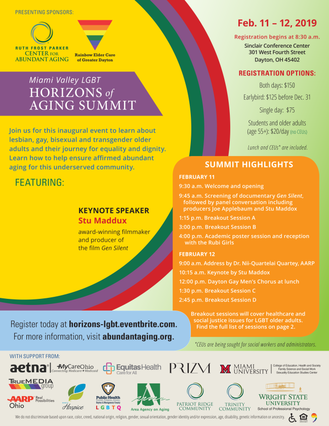 Horizons of Aging Summit flyer