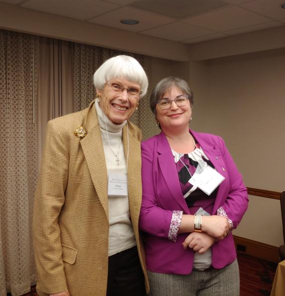 photo of Jill Raitt and Rabia Gregory