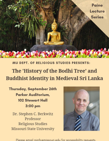 thumbnail of a flyer for the Berkwitz lecture on Sept 26