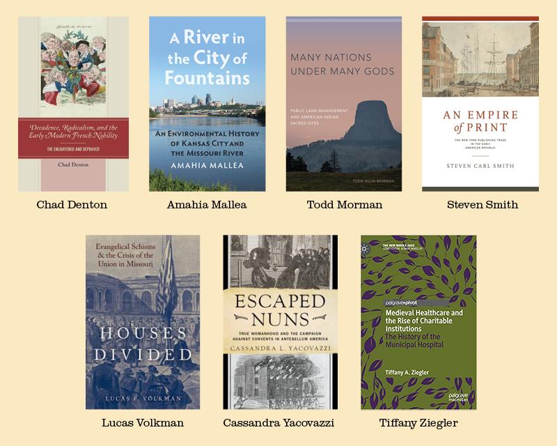history grad student bookshelf
