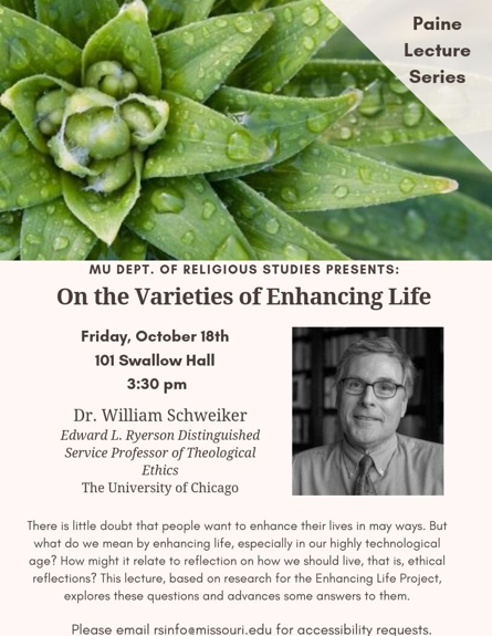 thumbnail of On the Varieties of Enhancing Life lecture flyer