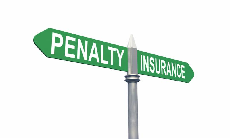 3d penalty or insurance sign concept, isolated in white background with clipping path
