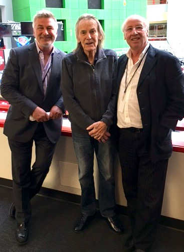 Alec Baldwin, Gordon Lightfoot and B.C.Fiedler following the taping of the interview special in Toronto, Canada.