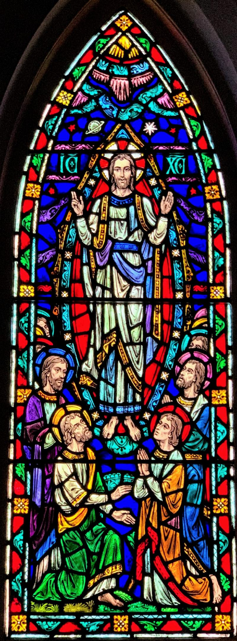 Ascension window from Chapel