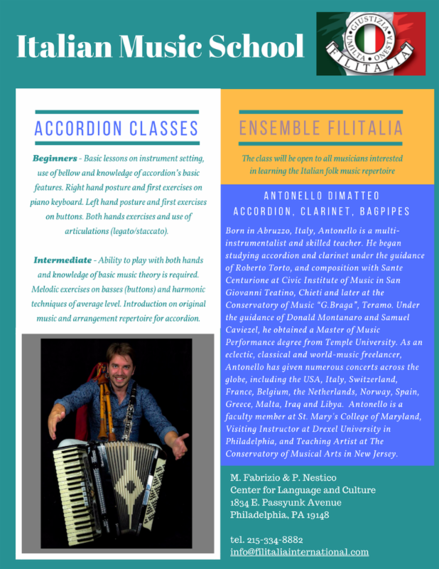 Italian Music School - Accordion & Ensemble classes