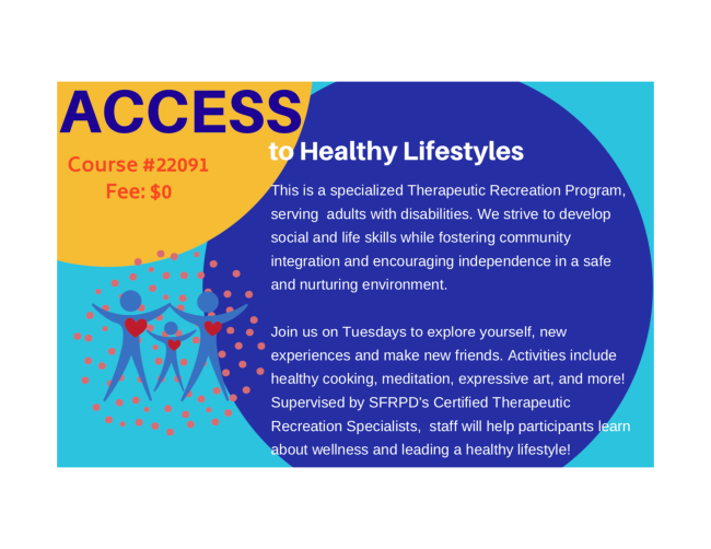 access to healthy lifestyles banner