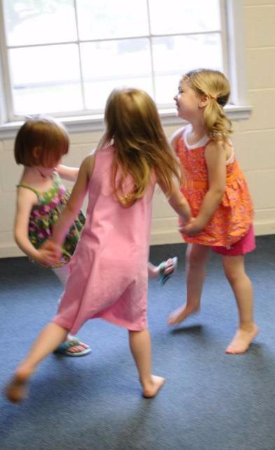 Children dancing in class