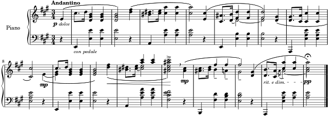 a page of music
