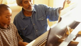 Instructor Teaching Piano