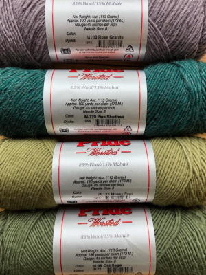 These four Lamb's Pride Worsted colorways are the latest yarn to move to our sale section. (click to zoom)