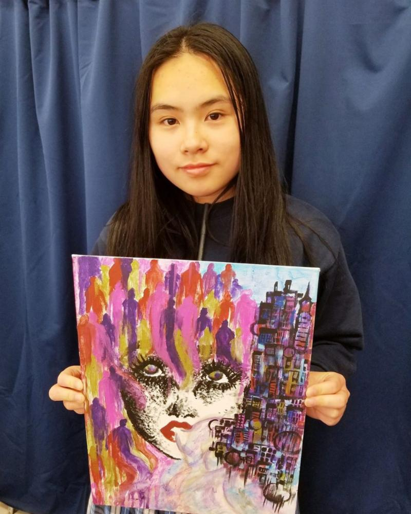 We are Assumption.... Ma Xin is one of our 7th graders and an extremely talented artist!!