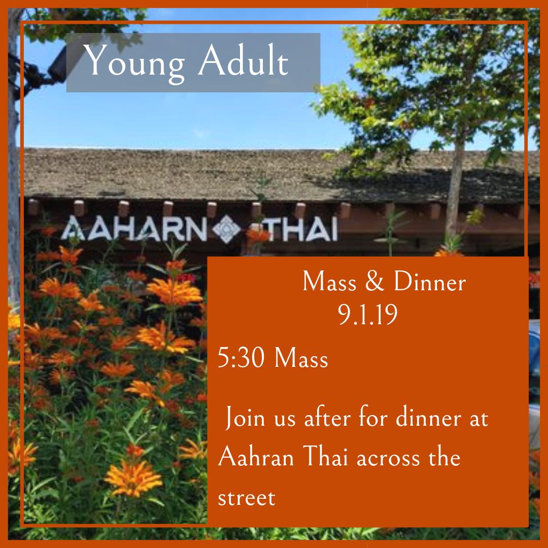 YA mass dinner sept 2019