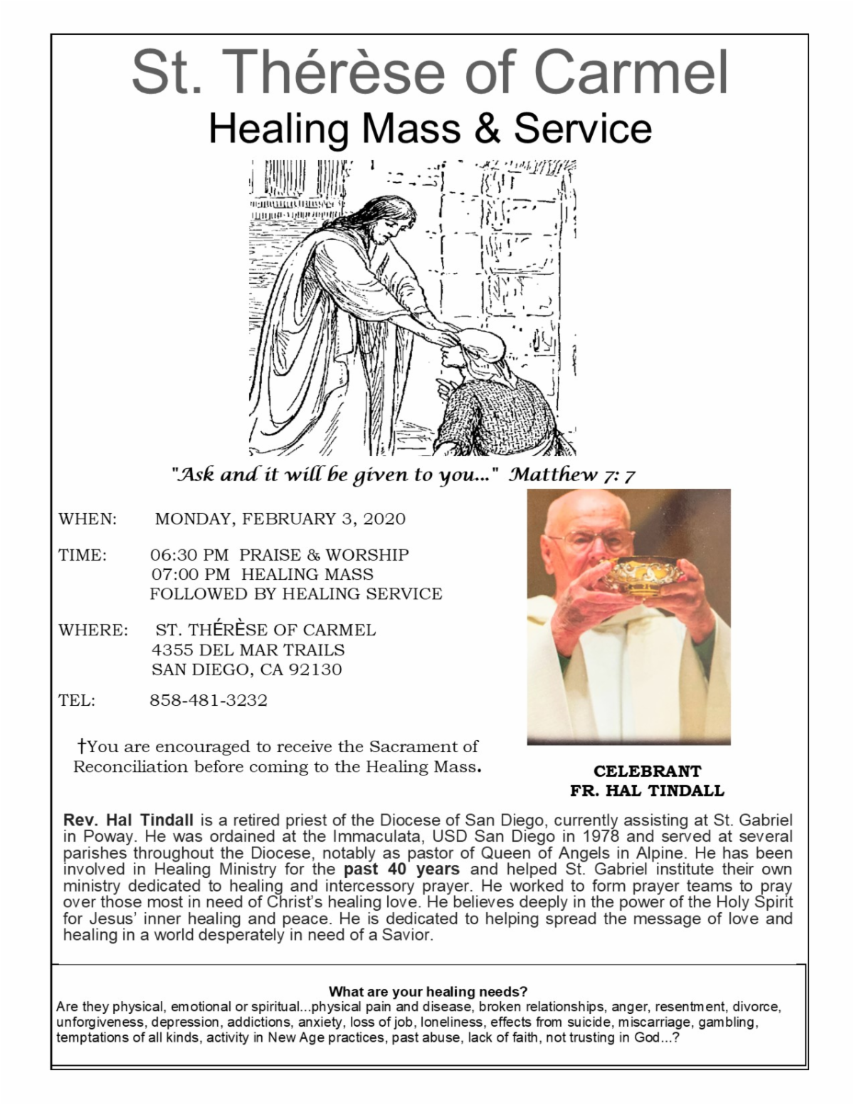jan. healing mass STOC