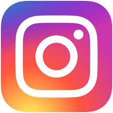 Instagram logo. rainbow color background with camera logo.