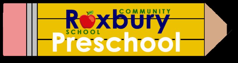 Pencil clipart that say Roxbury Community School Preschool written on the pencil.