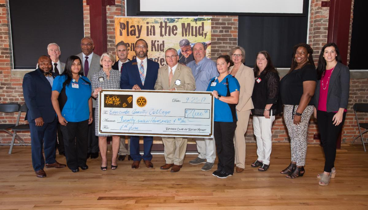 Rocky Mount Rotary Club presents _27k to ECC