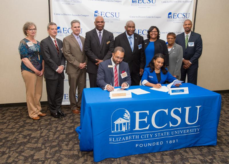ECC and ECSU leaders sign transfer agreement