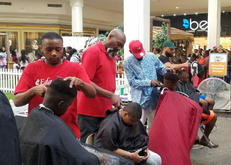 ECC Barbering Students