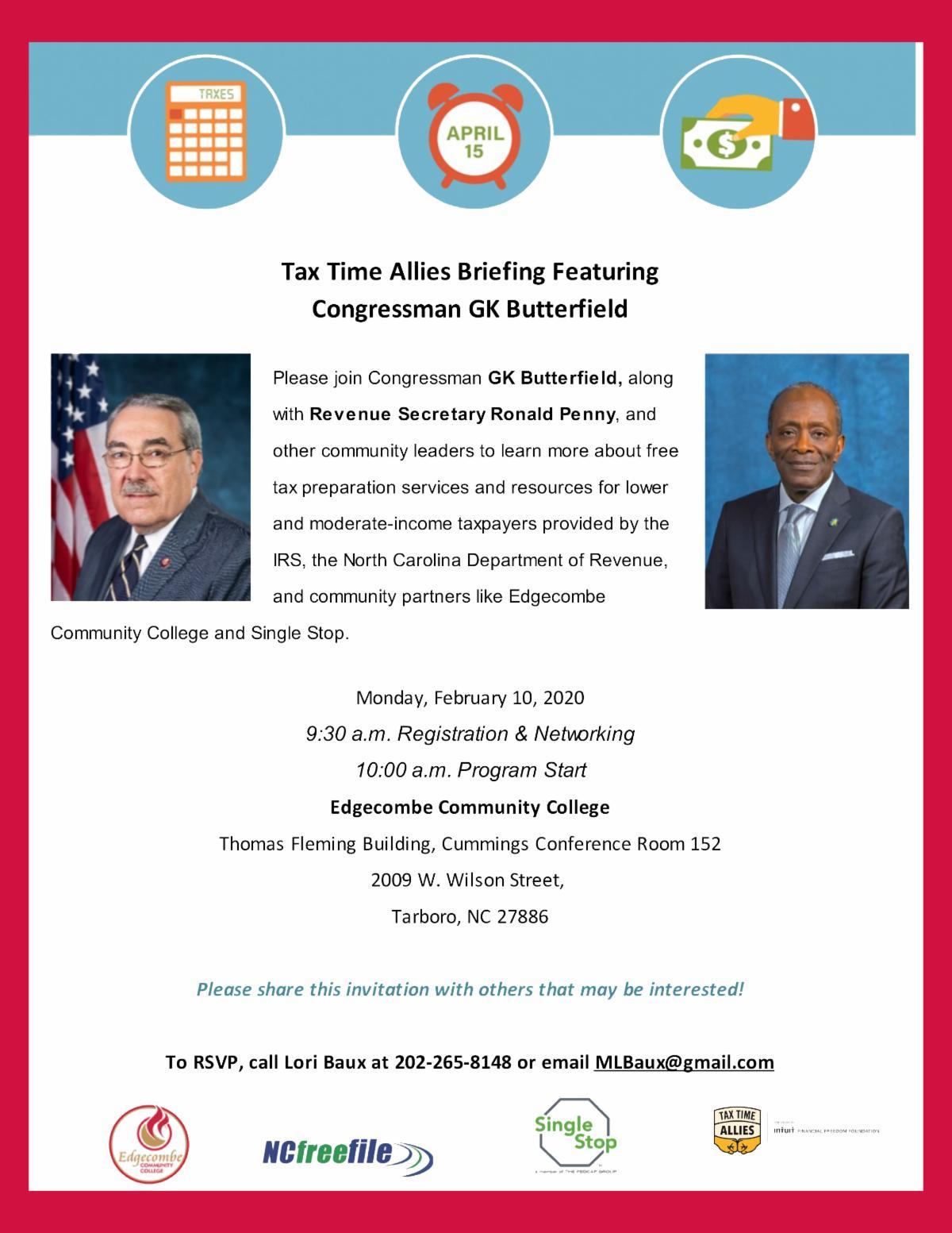 Congressman GK Butterfield Tax Time Briefing