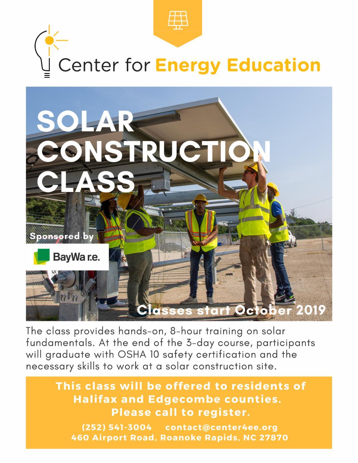 Solar Construction Class