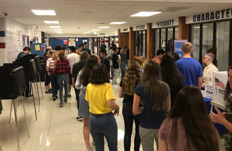 Mock Election Day at Glenbard South HS on Sept. 9