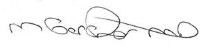 Michael Gardner MD signature