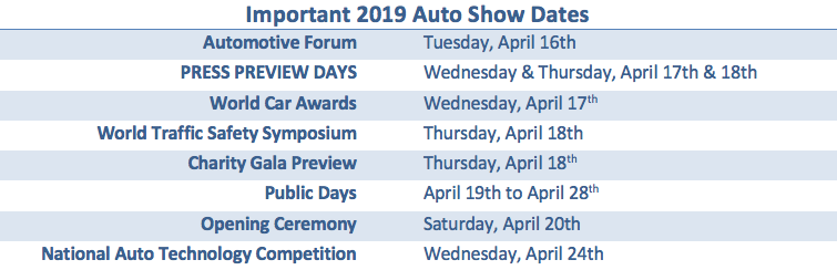 New York Auto Show 2019 Reveals