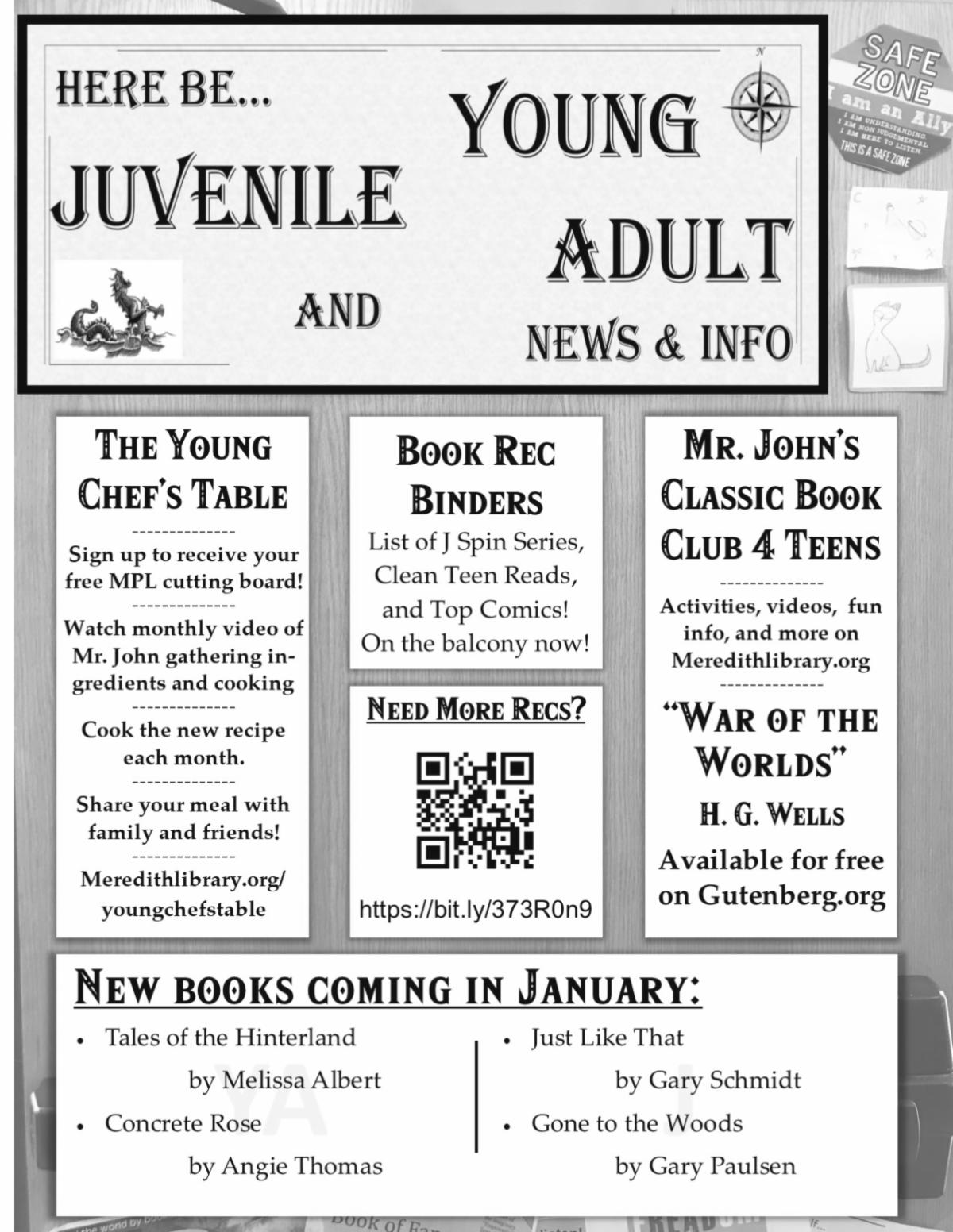 Teen January activities
