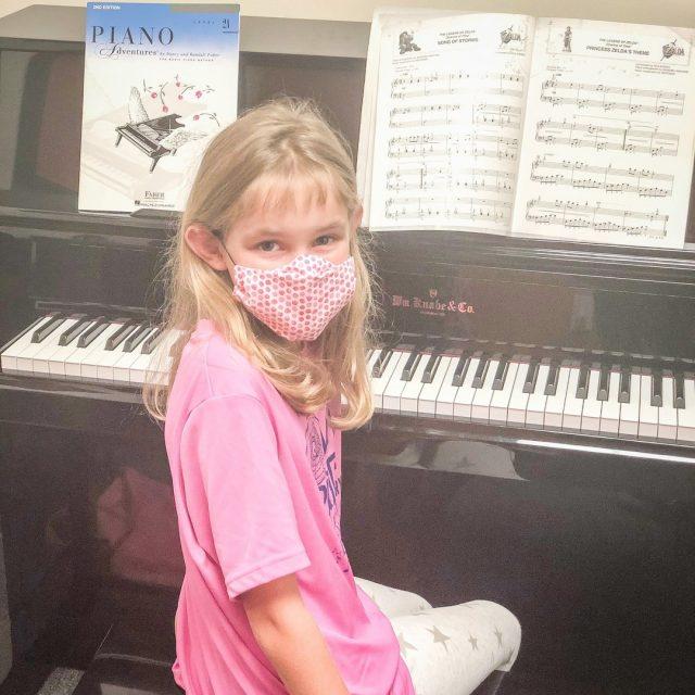 Piano student mask