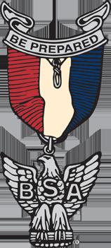 Eagle medal illustration