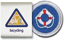 Advancement items belt loop and merit badge