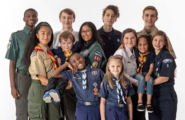 Scouts in uniform