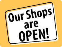 Our Shops are Open!